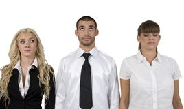 Corporate people expressing differently Stock Photography