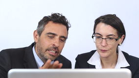Corporate people find solutions for business growth stock video footage