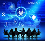 Corporate People Having a Meeting about Threat Stock Photo