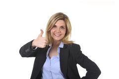 Corporate portrait young attractive  happy businesswoman posing confident smiling and relaxed Royalty Free Stock Photo