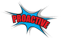 Corporate Power Word: Proactive Royalty Free Stock Image