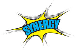 Corporate Power Word: Synergy Stock Photography