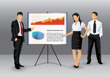 Corporate presentation illustration Royalty Free Stock Photo