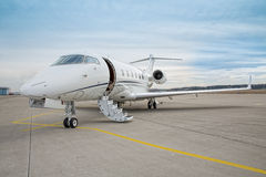 Corporate private jet - plane Stock Images
