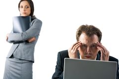 Corporate problems Stock Photography