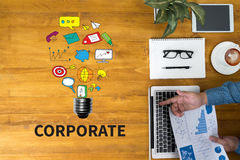 CORPORATE Process Business Strategy Management  Teamwork and COR Stock Images
