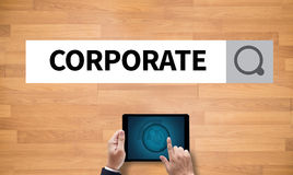 CORPORATE Process Business Strategy Management Teamwork and COR stock image