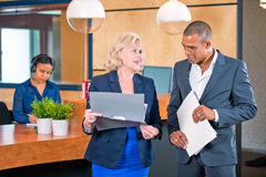Corporate reception lobby Royalty Free Stock Images