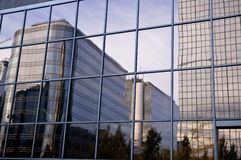 Corporate Reflections. Corporate building reflections  - Squares within squares Royalty Free Stock Photo