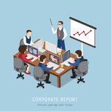 Corporate report concept Stock Image