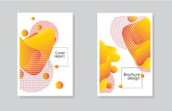 Corporate report cover abstract background with yellow shape for brochure design or cover report. Abstract vector illustration royalty free illustration