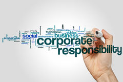 Corporate responsibility word cloud. Concept Stock Images
