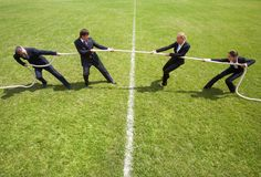 Corporate rivalry Stock Images