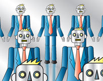 Corporate Robots Royalty Free Stock Images