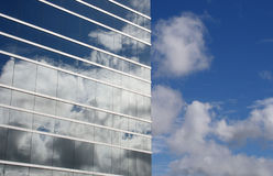 Corporate sky. Reflection of sky in corporate building Royalty Free Stock Images
