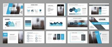 Corporate slideshow templates Royalty Free Illustration
