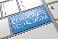 Corporate Social Media Stock Photo