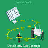 Corporate social responsibility business flat vector isometric Royalty Free Stock Photo