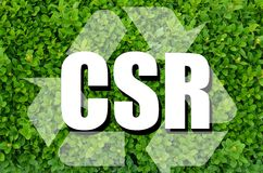 Corporate social responsibility concept Stock Images