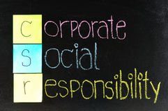 Corporate social responsibility ( CSR ) Royalty Free Stock Photo