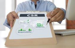 Corporate Social Responsibility CSR and Sustainability Responsib Royalty Free Stock Photos