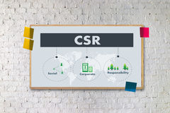 Corporate Social Responsibility CSR and Sustainability Responsib Royalty Free Stock Images
