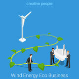 Corporate social responsibility eco business flat vector Royalty Free Stock Image