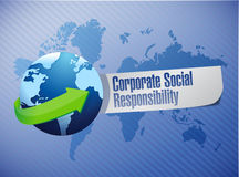 Corporate social responsibility globe sign Stock Image