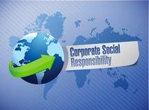 Corporate social responsibility globe sign Stock Image