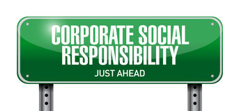 Corporate social responsibility illustration Royalty Free Stock Images
