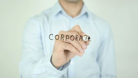 Corporate Solutions, Writing On Transparent Screen stock footage