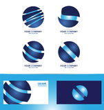 Corporate sphere logo icon set Stock Images