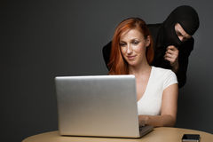 Corporate spying or employee monitoring Royalty Free Stock Image