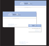 Corporate stationary. Illustrated, set of corporate stationary with letterhead, letter and business card. Legal logo Royalty Free Illustration