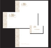 Corporate stationary design. A set of corporate stationary with letterhead paper, business card and envelope Stock Photo