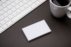 Corporate stationery branding mock-up with Business card blank.  Stock Photos