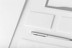 Corporate stationery mockup. Presentation folder, envelope Stock Images