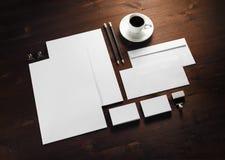 Corporate stationery set royalty free stock photos