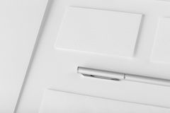 Corporate stationery set mockup. Presentation folder, envelope a Royalty Free Stock Photo