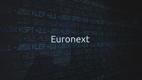 Corporate Stock Market Exchanges animated series - Euronext stock video