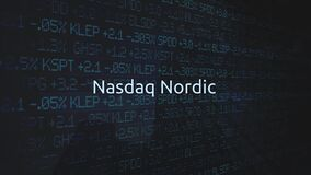 Corporate Stock Market Exchanges animated series - NASDAQ Nordic stock footage