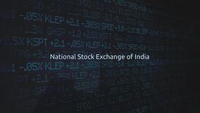 Corporate Stock Market Exchanges animated series - National Stock Exchange of India stock footage