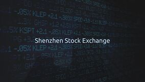 Corporate Stock Market Exchanges animated series - Shenzhen Stock Exchange stock video