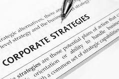 Corporate strategies Stock Images