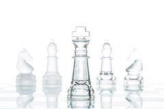 Corporate strategy Business Choice, transparent glass Chess grou Royalty Free Stock Images