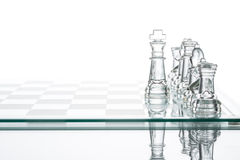 Corporate strategy Business Choice, transparent glass Chess grou stock image