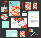 Corporate style business templates. Set of stationery Royalty Free Stock Images
