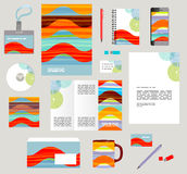 Corporate style business templates. Set of stationery Stock Images