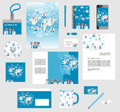 Corporate style business templates. Set of stationery Royalty Free Stock Image