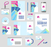 Corporate style business templates. Set of stationery Royalty Free Stock Photography